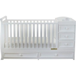Mikaila Presley 3-in-1 Crib and Changer Combo – White
