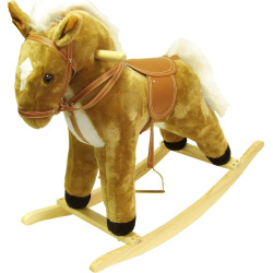 Happy Trails Plush Palomino Rocking Horse, Brown