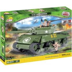 Cobi Small Army M10 Wolverine Construction Blocks Building Kit, Multicolor