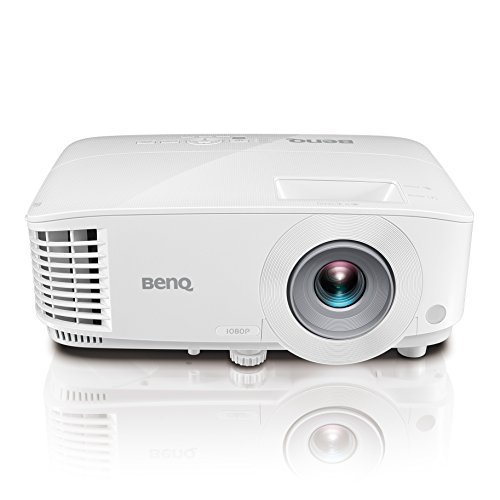 "BenQ 1080p DLP Business Projector (MH733), 4000 Lumens, Full HD 1920×1080, Wireless, Network, 3D, HDMI, USB Reader, 10W Speaker, LAN Control, 100""@8.2ft, 1.3x Zoom"