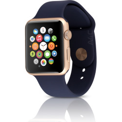 Apple Watch Sport Series 2 w/ 42mm Aluminum Gold Case – Midnight Blue (Pre-Owned)