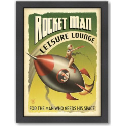 Americanflat Anderson Design Group Rocket Man Framed Wall Art, Multicolor