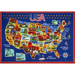 Smithsonian United States of America Rug (8'x10′), Blue
