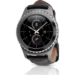 Samsung Gear S2 classic (T-Mobile) Smartwatch w/ Leather Band (S) – Black (Scratch and Dent)