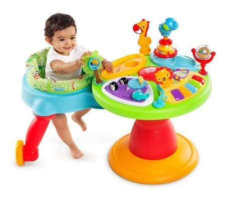 Bright Starts 3-in-1 Around We Go-Activity Station, Baby Walker And Baby Toys