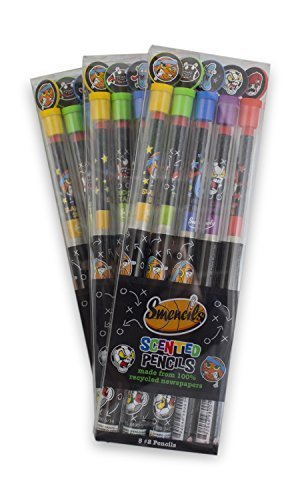 Scentco Sport Smencils – 3 Sets of Scented Pencil 5-Packs