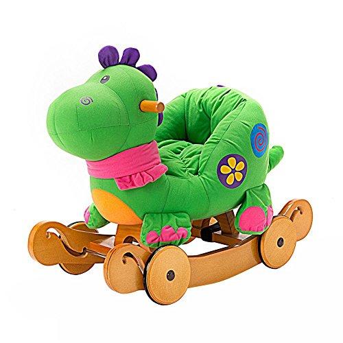 labebe child rocking horse toy stuffed animal rocker toy 2 in 1 green - Allshopathome-Best Price Comparison Website,Compare Prices & Save