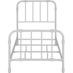 Jenny Lind Metal Bed – White – Dorel Home Products