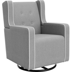 Graco Remi Tufted Upholstered Swivel Glider, Grey