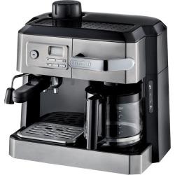 DeLonghi All-in-One Combination Coffee and Espresso Machine, Black