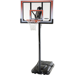 Lifetime 50-in. XL Base Shatterproof Action Grip Portable Basketball System, Black