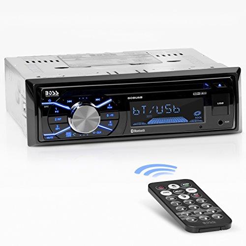 BOSS Audio 508UAB Car Stereo – Single Din, Bluetooth, CD/MP3/WMS/USB AM/FM Radio