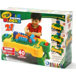 Crayola 40-pc. Building Blocks Table Set, Multicolor
