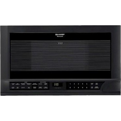 Sharp 1.5 Cu. Ft. 1100 Watt Over the Counter Microwave Oven – Black R1210T