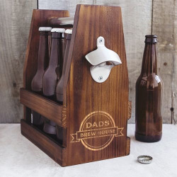 Cathy's Concepts Dad's Brew House Craft Beer Carrier, Brown