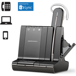 Plantronics Savi W745-M Wireless Headset for Microsoft Lync with Del