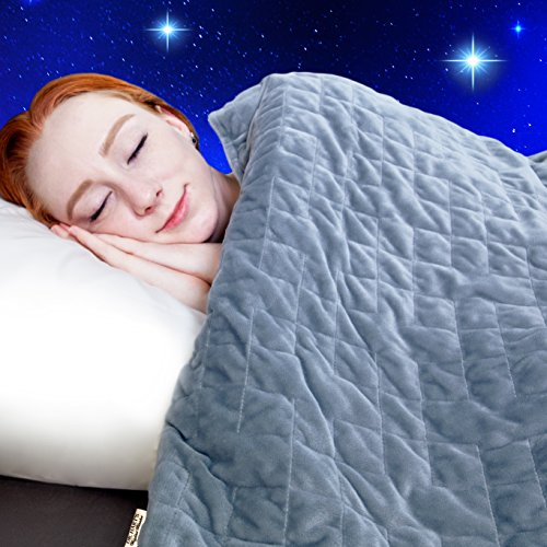 Dr. Hart's Weighted Blanket Kid's Quilt | Heavy Gravity Blanket for Anxiety Relief & to Improve Sleep | Natural Sleep Aid & Stress Relief | Calming Weighted Comforter & Cover | 15 lbs | 60×80