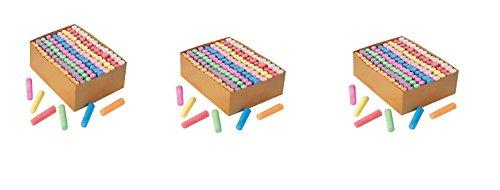 S&S Worldwide Color Splash! Giant Box of Sidewalk Chalk(box of 126). (3 Pack)
