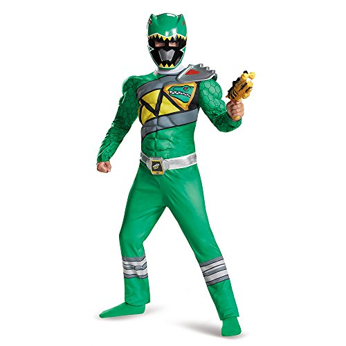 Green Ranger Dino Charge Classic Muscle Costume, Large (10-12)