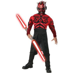 Star Wars Men's Darth Maul Muscle Costume, Multi-Colored