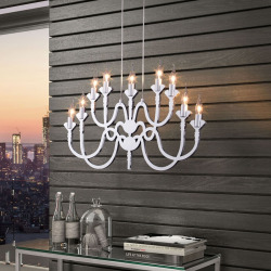 Zuo Pure Supercell Chandelier, Silver