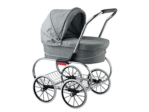 Classic Bassinet Doll Stroller by Valco Baby (Grey Marle)