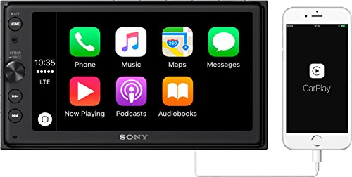 "Sony XAV-AX100 6.4"" Car Play/Android Auto Media Receiver with Bluetooth"