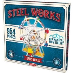 Steel Works Metal Ferris Wheel Construction Set, Multicolor
