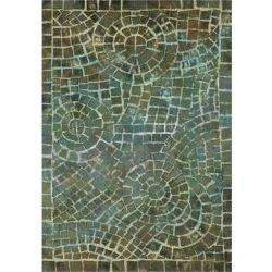 Blue Abstract Pressed/Molded Accent Rug – (2'x3′) – Liora Manne