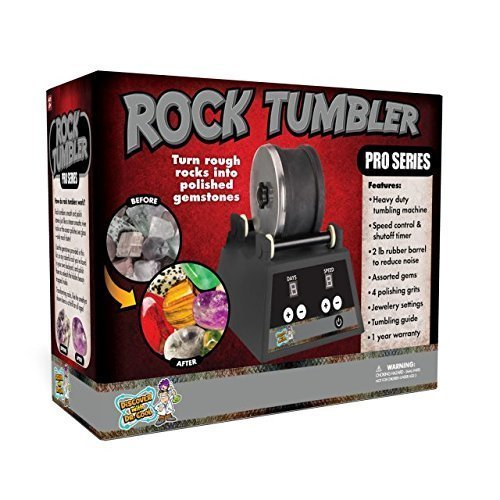 Discover with Dr. Cool PRO Series Rock Tumbler – Turn Rocks into Stunning Gemstones!