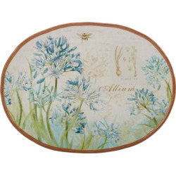 Certified International Herb Blossoms Oval Platter, Multicolor