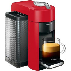 Nespresso Vertuo Coffee and Espresso Machine by De'Longhi, Red
