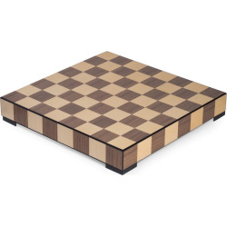 Bey-Berk Chess and Checkers Set with Storage Drawer, Brown