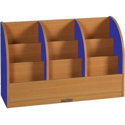 ECR4Kids Single-Sided Toddler Book Stand – Blue, Blue/Wood