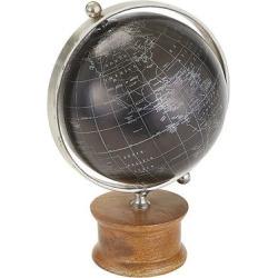 Black Globe with Wood Base – Go Home