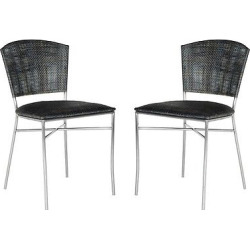 Maude Side Chair Metal/Black/Silver (Set of 2) – Safavieh