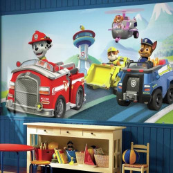 RoomMates Paw Patrol Chair Wall Mural, Multicolor