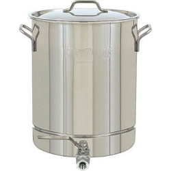 Bayou Classic Stainless Stockpot with Spigot – 8 Gal.
