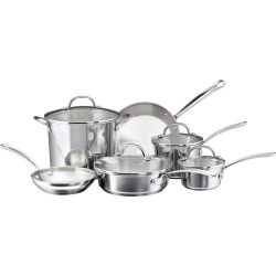 Farberware Millennium 10-pc. Stainless Steel Cookware Set, Multicolor
