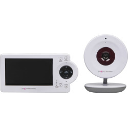 Project Nursery Video Baby Monitor System with Digital Zoom Camera, White