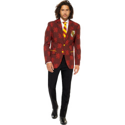 Men's OppoSuits Slim-Fit Harry Potter Suit & Tie Set, Size: 52 Reg, Red Yellow
