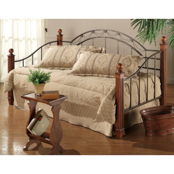 Camelot Daybed with Wooden Posts, Black