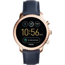 Fossil Women's Q Explorist Gen 3 Leather Smart Watch – FTW4002, Size: Large, Black