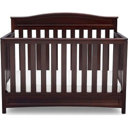 Delta Children Emery 4-in-1 Convertible Crib – Espresso, Dark Chocolate