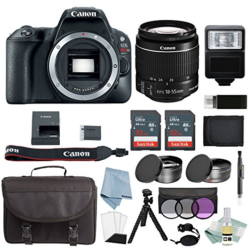 Canon EOS Rebel SL2 Bundle With EF-S 18-55mm f/4-5.6 IS STM Lens + Advanced Accessory Kit – Includes EVERYTHING You Need To Get Started
