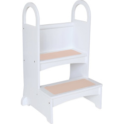 Guidecraft High Rise Step-Up Stool, White