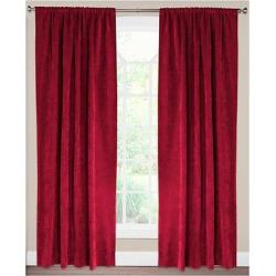 Siscovers Padma Flame Curtain Panel – Padma Flame (52″ x 96″), Flame Red