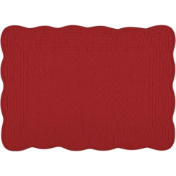 KAF Home Flax Boutis Placemats 4-pk., Red