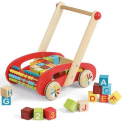 Janod ABC Buggy Cart with Blocks, Multicolor