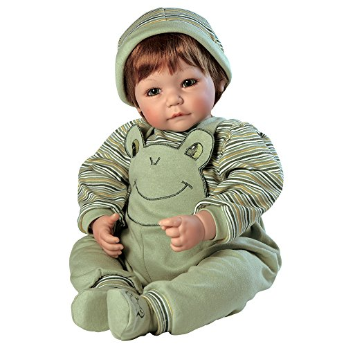 Adora Toddler Froggy Fun Boy 20″ Boy Weighted Doll Gift Set for Children 6+ Huggable Vinyl Cuddly Snuggle Soft Body Toy